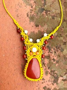 bijoux Collier macramé n°0001 chargé d'énergie reiki Noellia Chami