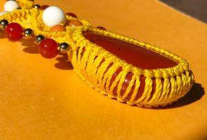 bijoux Collier macramé jaspe rouge minéraux n°0001 Noellia Chami