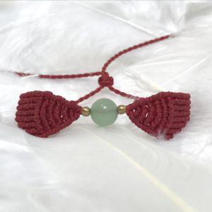 Bracelet aventurine ailes d'ange en macramé 1
